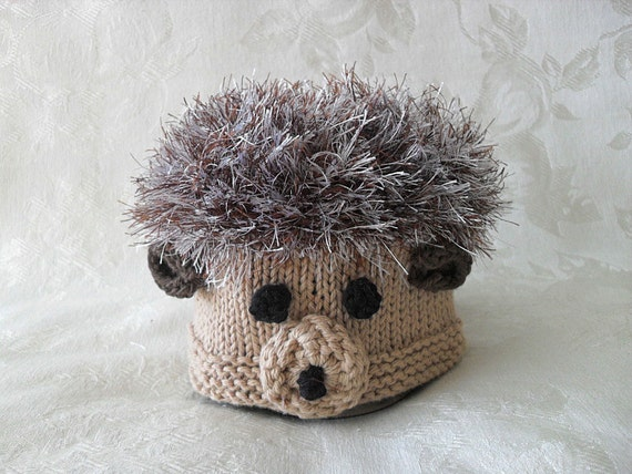 Baby Hedgehog Knitting Pattern : Baby Hats Knit Baby Hat Hand Knitted Hedgehog by ...