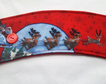 Reusable Coffee Cozie Christmas Rudolph the Red Nose Reindeer Santa Claus