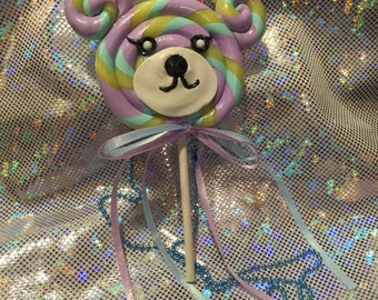 3-Way Bear Sweet Lollipop Necklace / Brooch / Hair clip