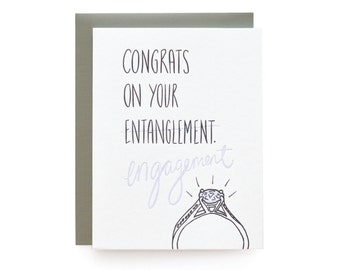 Entanglement - letterpress card