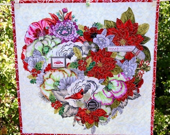 MarveLes CHRISTMAS HEART PILLOW Case Only Decorative  Holiday Home Decor Red White Green