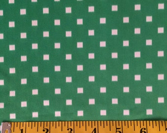 Vintage Fabric Green Disco Dot 1 yards