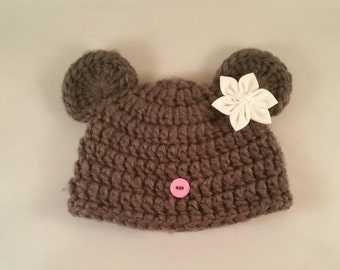 Baby mouse hat, Halloween costume, newborn costume, baby girl hat, baby boy hat animal hat newborn hats crochet photo props mouse hat