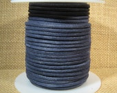3mm Round Suede Cord - Denim - 3MRS-5 - Choose Your Length