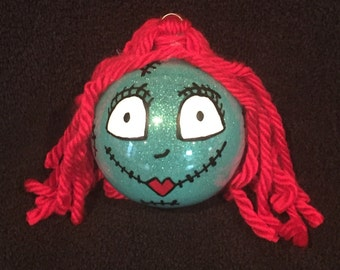 Sally from Nightmare before Christmas  shatterproof Christmas ornament