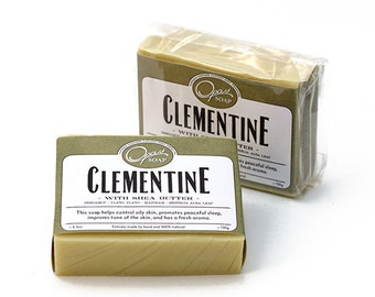 CLEAN Clementine Ylang Ylang, Lavender, Bergamot  Soap Made in Los Angeles California, FREE SHIPPING