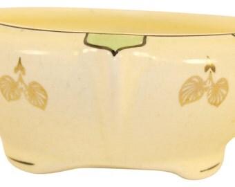 Roseville Pottery Creamware Ceramic Design Flower Arranger Bowl