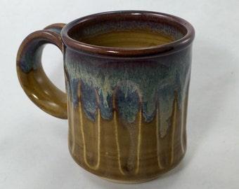 Unique wheel thrown pottery coffee mug