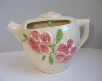 Vintage Diamond Pottery teapot wall planter Teapot wall decor