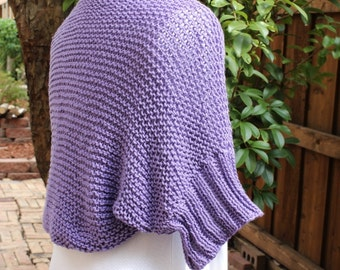 Knitting Pattern, Knit Shrug Patterns, Cotton Knitted Shrug with Ribbed Sleeves, Women's Knitted Shrug Tutorial, Easy to Knit Shrug Pattern