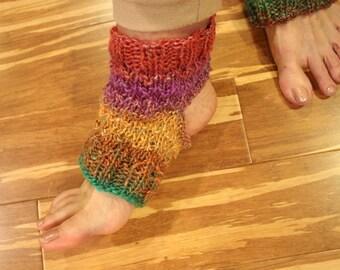 Knit Yoga Socks Pattern, Sock Knitting, Easy Pattern for Medium Weight Yoga Socks, Flip Flop Socks Pattern, Sandal Sock Knitting Pattern