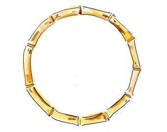 Bamboo Circle monogram