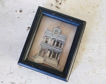 victorian house paper art