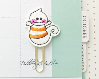 Ghost Planner Clips, Ghost Paper Clip, Vinyl Paper Clips, Accessory For Planner, Organizer Clips, Ghost Paper Clips, Halloween Paper Clips