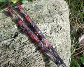 Cranberry Nights color acrylic Hair sticks.
