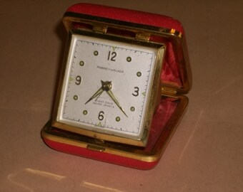 Phinney Walker Luminous Eight Days Seven Jewels Travel Alarm Clock Germany WORKS