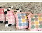 CUSTOM ORDER, Decorative Yo Yo Pillows