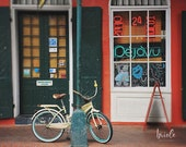 "New Orleans French Quarter Art Print. ""Deja Vu Bike"" Photograph. Affordable Wall Art, Home Decor, Photography."