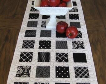 Black and White Table Runner