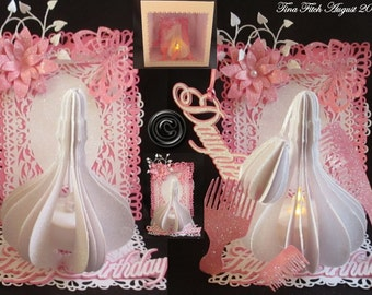 Lady Tealight Perfume Easel & Box, Cutting files, All file formats offered