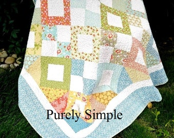 PDF Quilt Pattern Throw Twin Quilt Layer Cake FriendlyDownload Now Purely Simple PDF Pattern