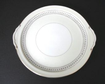 Narumi Round Serving Platter with Tab Handles - Laurel Pattern - Occupied Japan