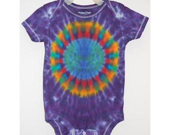 Baby TIE DYE Earth Rainbow Tye Dye Creeper Infant sizes newborn 6 12 18 24 Months Grateful Dead baby outfit