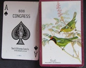 Complete Deck of Vintage Congress Playing Cards-Gould's Finch