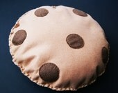11 inch Chocolate Chip Cookie Felt Cushion Pillow Decoration Plush Fun Gift Biscuit Kids Play
