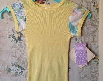 Girls deadstock NWT yellow blouse 7-8