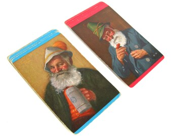 Vintage Swap Cards, Vintage Trading Cards, Art Cards, Fritz Muller Art Cards, Old Man Cards, Beer Stein Cards, Vintage Lot Playing Cards