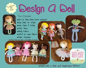 Design a Doll  - Handmade Dolls and DayDreams Doll, 18 Inch, Custom Doll