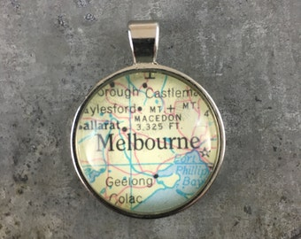 Vintage Atlas Location Pendant - Choose Your Location