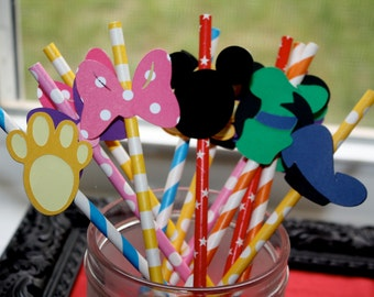 Mickey Mouse Clubhouse Party Straws