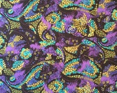 Sapphire Jungle Abstract fabric  by the yard