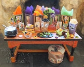 Witches' Halloween Party Table, Trick or Treat, Black Cats,