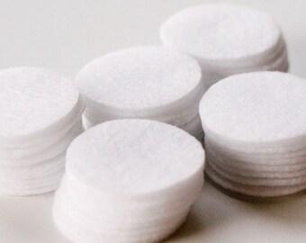 All White - 1.25 inch Circles - Die Cut Felt Circles