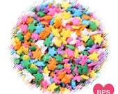 Bright Rainbow Star Sprinkles, Rainbow Sprinkles, Star Quin Sprinkles, Rainbow Party Cupcake Sprinkles, Star Ice Cream Sprinkles