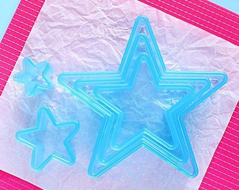 Ateco Star Cookie Cutter Set, Christmas Cookie Cutters, Plastic Cookie Cutters, Star Biscuit Cutters, Star Cutters, Star Pastry Cutters