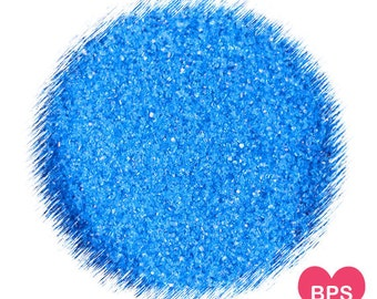 Bright Blue Sanding Sugar, Blue Sprinkles, Cocktail Rimming Sugar, 4th of July Sprinkles, Edible Sprinkles, Cake Pop Sugar