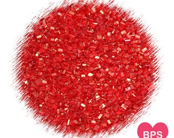 Red Sparkling Sugar, Red Sprinkles, Christmas Cookie Sprinkles, Valentine's Day Sprinkles, Red Coarse Sugar, Edible Sprinkles