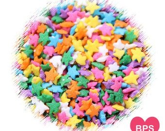 Bright Rainbow Star Sprinkles, Rainbow Sprinkles, Star Quin Sprinkles, Edible Sprinkles, Star Sequins Sprinkles, Easter Sprinkles