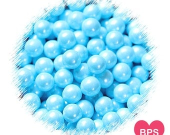 Light Blue Sugar Pearls, Blue Sprinkles, Frozen Party Sprinkles, Large 7mm Sugar Pearls, Baby Shower Sprinkles, Cupcake Toppers