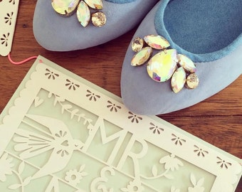 38- SALE VIVIAN- Ballet Flats - Suede Shoes - 38- Powder blue suede 38 on Sale only