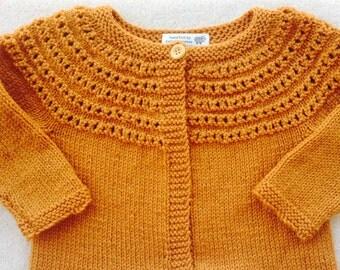 Child Wool Cardigan Sweater, Girl Sweater Size 2 - 4, Mustard Yellow Cardigan Sweater, Girl Green Sweater, Red Wool Sweater, Blue Sweater