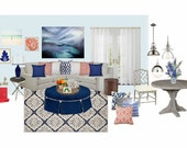 Living Room - Interior Design Service, Mood Board & Product Sourcing List