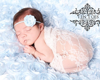 SALE Newborn Wrap, Baby Girl Photo Prop, Newborn Stretch Wrap, Off White Lace Wrap, Newborn Photo Props, Layering Fabric, Photography Prop