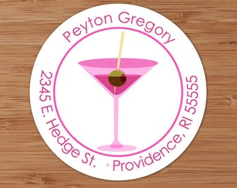 Pink Martini - Custom Address Labels or Stickers