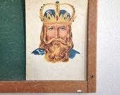 Vintage School Flashcard- King