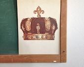 Vintage School Flashcard- Crown